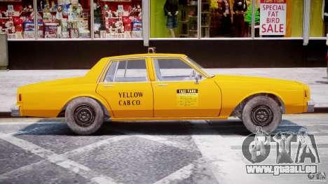 Chevrolet Impala Taxi 1983 [Final] pour GTA 4 Vue arrière de la gauche