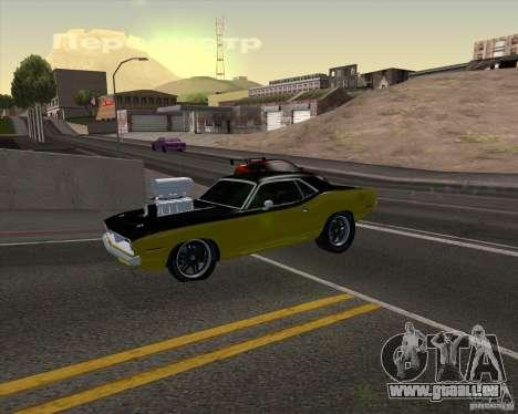 Plymouth Hemi Cuda 440 pour GTA San Andreas moteur