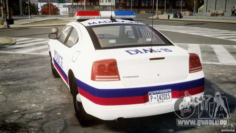 Dodge Charger Karachi City Police Dept Car [ELS] für GTA 4 hinten links Ansicht