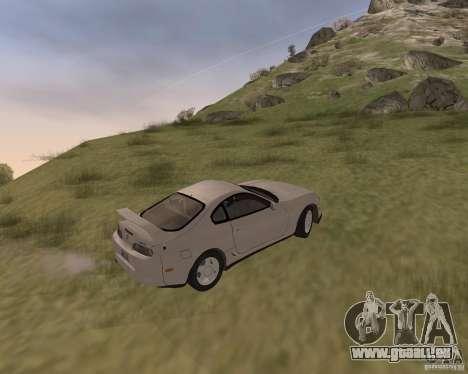 Toyota Supra 3.0 24V pour GTA San Andreas vue arrière