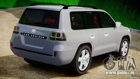 Toyota Land Cruiser 200 2007 pour GTA 4 est un droit