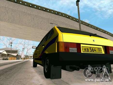 VAZ 21093i TMK Afterburner pour GTA San Andreas vue de dessus