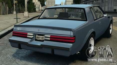 Buick GNX 1987 pour GTA 4 Vue arrière de la gauche