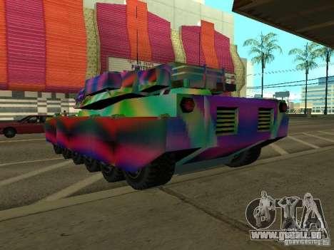 Eine fröhliche Farbe-tank für GTA San Andreas zurück linke Ansicht