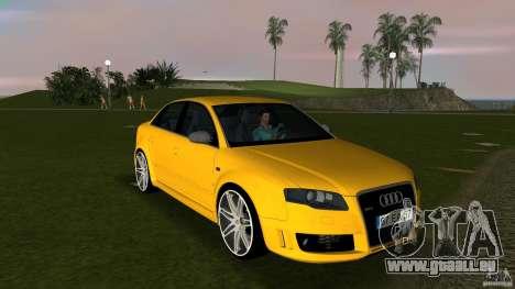 Audi RS4 pour GTA Vice City vue arrière