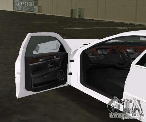 Lincoln Town Car pour GTA Vice City vue arrière