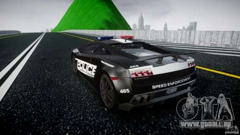 Lamborghini Gallardo LP570-4 Superleggera 2011 pour GTA 4 Vue arrière de la gauche