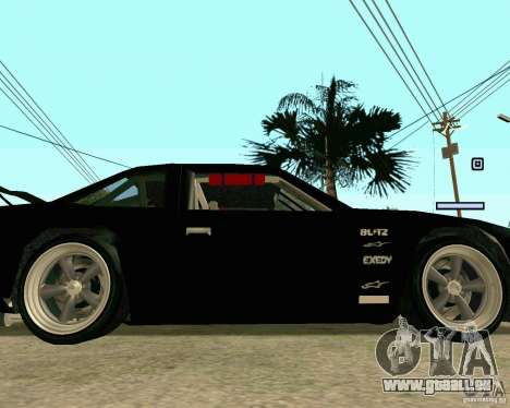 Hotring Racer Tuned pour GTA San Andreas vue de dessus