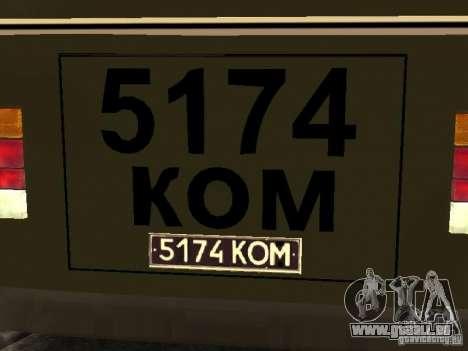 672 PAZ v2 pour GTA San Andreas vue de droite