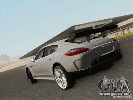 Porsche Panamera Turbo 2010 pour GTA San Andreas laissé vue