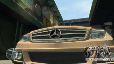 Mercedes-Benz C63 für GTA 4 rechte Ansicht