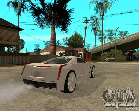 Cadillac Cien für GTA San Andreas zurück linke Ansicht