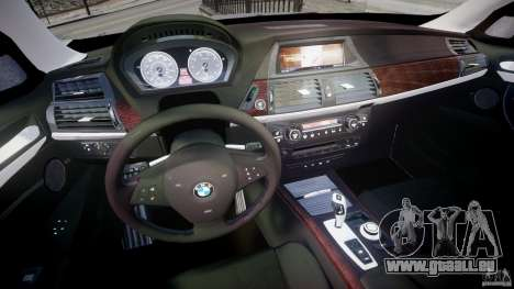 BMW X5 xDrive 4.8i 2009 v1.1 pour GTA 4 Vue arrière