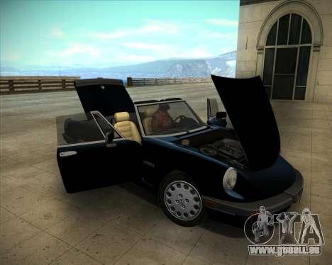Alfa Romeo Spider 115 1986 für GTA San Andreas zurück linke Ansicht