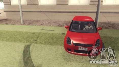 Suzuki Swift versión Chilena pour GTA San Andreas vue arrière