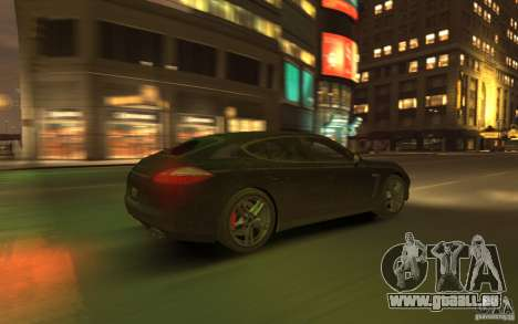 Porsche Panamera Turbo pour GTA 4 vue de dessus