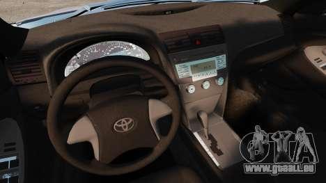 Toyota Camry Altise 2009 pour GTA 4 vue de dessus