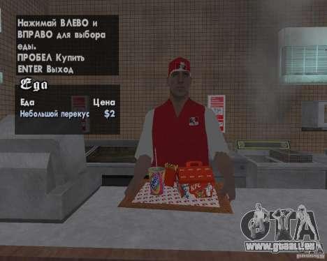 Nouvelles textures, des restaurants et des bouti pour GTA San Andreas septième écran