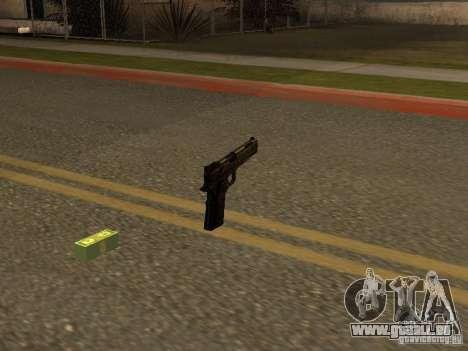 Pistolet 9 mm pour GTA San Andreas deuxième écran