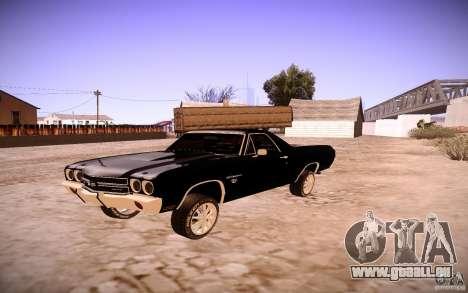 Chevrolet El Camino SS 1970 pour GTA San Andreas