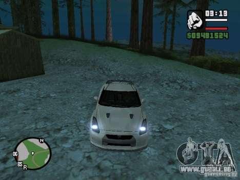 Nissan Skyline GTR für GTA San Andreas Innenansicht