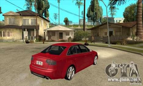 Audi RS4 2006 pour GTA San Andreas vue de droite