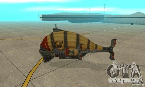 Dirigeable de TimeShift pour GTA San Andreas sur la vue arrière gauche