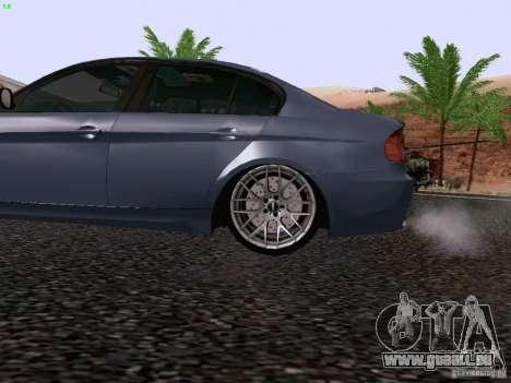 BMW M3 E90 Sedan 2009 pour GTA San Andreas vue arrière