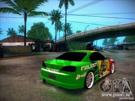 Nissan Silvia S15 BOSO Falken pour GTA San Andreas sur la vue arrière gauche