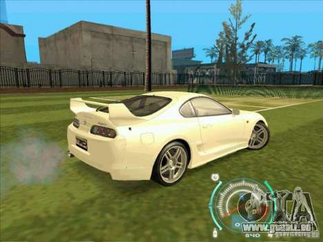 Toyota Supra from 2 Fast 2 Furious für GTA San Andreas Innenansicht