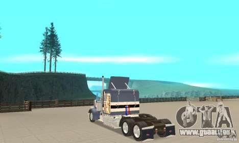 Peterbilt 359 pour GTA San Andreas sur la vue arrière gauche