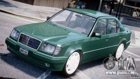Mercedes-Benz W124 E500 1995 pour GTA 4 est une vue de dessous