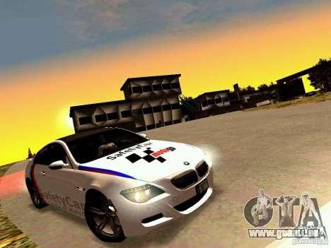 BMW M6 MotoGP SafetyCar pour GTA San Andreas vue intérieure