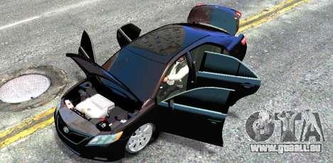 Toyota Camry V6 3.5 2007 pour GTA 4 est une vue de l'intérieur