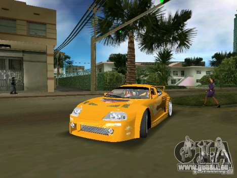 Toyota Supra für GTA Vice City Rückansicht