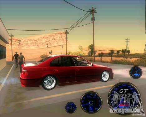 BMW E39 530d Sedan pour GTA San Andreas laissé vue