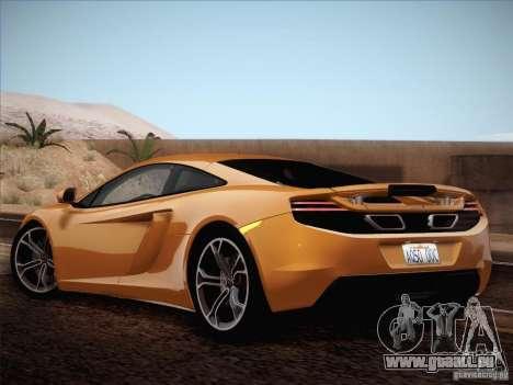 McLaren MP4-12C BETA pour GTA San Andreas vue intérieure