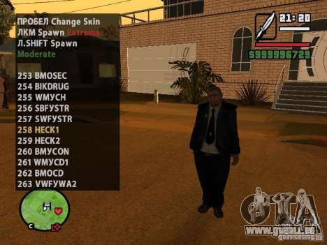 GTA IV peds to SA pack 100 peds für GTA San Andreas sechsten Screenshot