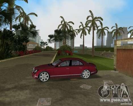 Maybach 57 pour GTA Vice City sur la vue arrière gauche