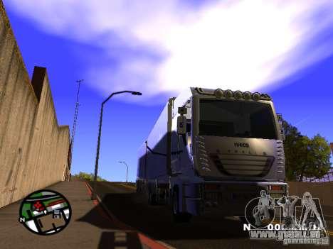 Iveco Stralis für GTA San Andreas zurück linke Ansicht