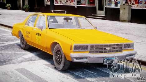 Chevrolet Impala Taxi 1983 [Final] pour GTA 4 est une gauche
