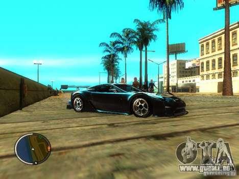 Lexus LFA pour GTA San Andreas vue de droite
