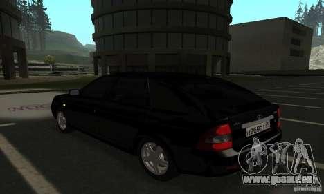 Lada Priora Hatchback pour GTA San Andreas laissé vue