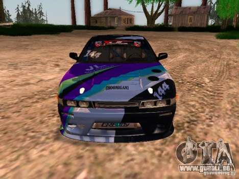 Nissan Sil80 Nate Hamilton pour GTA San Andreas vue intérieure