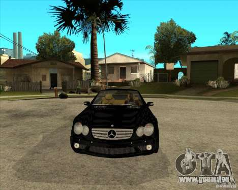 Mercedes Benz AMG SL65 V12 Biturbo pour GTA San Andreas vue arrière
