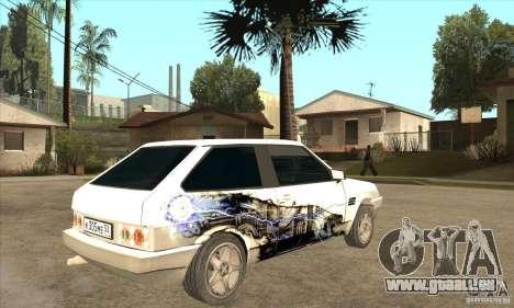 VAZ 2108 à l'écoute pour GTA San Andreas vue de droite