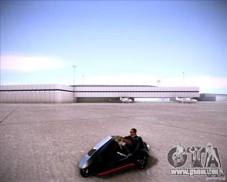 Sinclair C5 pour GTA San Andreas vue de droite