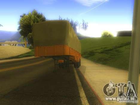 Remorque MAZ 5205 pour GTA San Andreas laissé vue