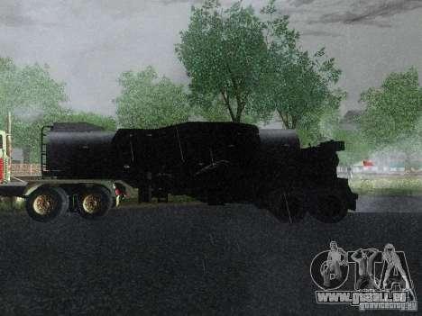 Remorque carburant blindé de Mack camion Titan pour GTA San Andreas laissé vue