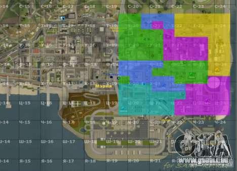 Carte de San Andreas avec mise à jour v7 pour GTA San Andreas deuxième écran